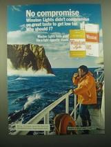 1980 Winston Lights Cigarettes Ad - $14.99