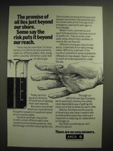 1981 ARCO Atlantic Richfield Company Oil and Gas Ad - The Promise of Oil - $14.99