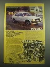 1982 Toyota Corolla Tercel Ad - A Car for All Seasons - $14.99