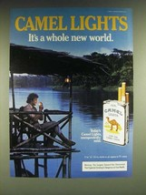 1985 Camel Lights Cigarettes Ad - Camel Lights It's a whole new world - $14.99