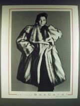 1985 Pellicce Bascardi Fur Fashion Ad - photograph by Francesco Scavullo - $14.99