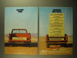 1988 Chevy Pickup Truck Ad - Old New Ford Advanced New Chevy - $14.99