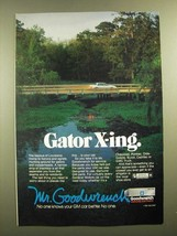 1988 GM Goodwrench Genuine GM Parts Ad - Gator X-ing - $14.99