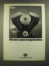 1988 Harley-Davidson Motorcycles Ad - Answer to Imported Whines - $14.99