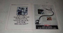 1988 Kellogg's Cereal Ad - The First Thing I Ask My Patients - $14.99