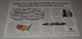 1988 Nissan Cars Ad - Be Prepared for Excessive Service - $14.99