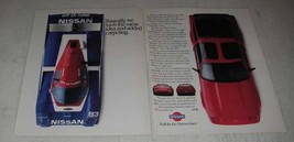 1988 Nissan 300ZX Turbo and GTP ZX Turbo Cars Ad - Same Idea - $14.99