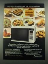 1988 Panasonic Gemini Microwave Oven Ad - Why Buy - $14.99