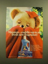 1988 Snuggle Fabric Softener Ad - Cuddle-Up to My Fresh New Fragrance - $14.99