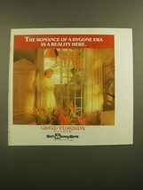 1988 Walt Disney World Grand Floridian Beach Resort Ad - Bygone Era - $14.99