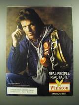 1988 Winston Cigarettes Ad - Real People Real Taste - $14.99