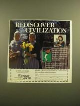 1988 Winston-Salem NC Ad - Rediscover Civilization - $14.99