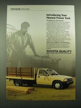 1989 Toyota Cab Chassis Truck Ad - Your Newest Power Tool - $14.99