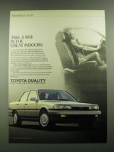1989 Toyota Camry Ad - Take a Ride in the Great Indoors. - $14.99