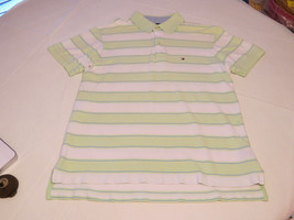 Tommy Hilfiger Mens short sleeve polo shirt M lt green white stripes **s... - $49.49