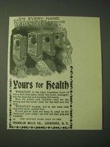 1900 Franklin Mills Wheatlet Ad - Yours for Health - $14.99