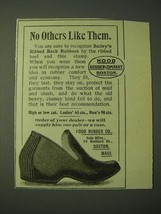 1900 Hood Rubber Co. Bailey's Ribbed Back Rubbers Ad - No others like them - $14.99
