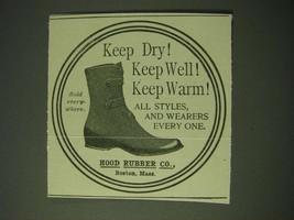 1900 Hood Rubber Co. Shoes Ad - Keep dry! Keep Well! Keep Warm! - $14.99