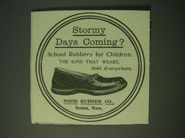 1900 Hood Rubber Co. Shoes Ad - Stormy days coming? - $14.99