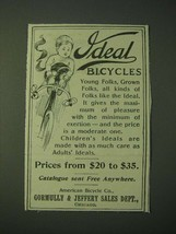 1900 Ideal Bicycles Ad - $14.99