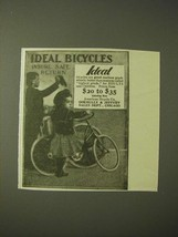 1900 Ideal Bicycles Ad - Ideal Bicycles insure safe return - $14.99
