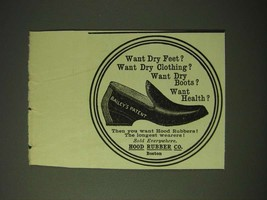 1900 Hood Rubber Co. Shoes Ad - Want dry feet? - $14.99