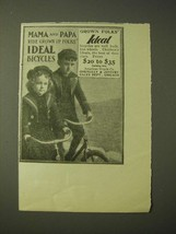 1900 ideal Bicycles Ad - Mama and Papa ride grown up folks' ideal bicycles - $14.99