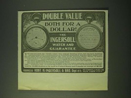 1900 Ingersoll Dollar Watch Ad - Double Value both for a dollar! - $14.99