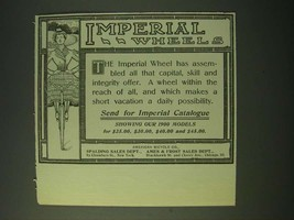 1900 Imperial Wheels Bicycle Ad - $14.99
