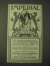 1900 Imperial Bicycles Ad - $14.99