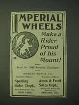 1900 Imperial Wheels Bicycle Ad - Make a rider proud of his Mount - $14.99