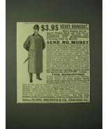 1900 Sears, Roebuck & Co. Mackintosh Ad - $3.95 Heavy Raincoat - $14.99