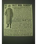 1900 Sears, Roebuck & Co. Mackintosh Ad - $4.50 Wool Raincoat - $14.99
