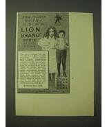 1900 United Shirt & Collar Lion Brand Shirts Ad - Now Bobby's like Papa - $14.99
