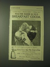 1900 Walter Baker & Co.'s Breakfast Cocoa Ad - A Perfect Food Preserves ... - $14.99