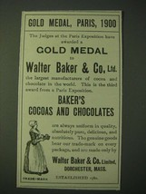 1900 Walter Baker & Co.'s Baker's Cocoas and Chocolates Ad - Gold Medal,... - $14.99
