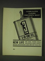 1936 3-in-One Oil Ad - Lubricates cleans prevents rust - $14.99