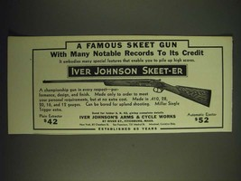 1936 Iver Johnson Skeet-Er Gun Ad - A famous skeet gun - $14.99