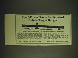 1936 Lyman 5A Scope Ad - The 5-Power scope for standard indoor target ra... - $14.99