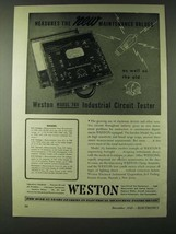 1943 Weston Model 785 Industrial Circuit tester Ad - $14.99