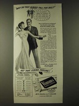 1943 Vimms Vitamins Ad - Why do they always fall for Bill? - $14.99