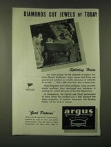 1945 Argus Optical Products Ad - Diamonds cut jewels of today - $14.99