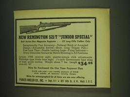 1948 Parker-Whelen Remington 521T Junior Special Rifle Ad - $14.99