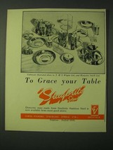 1955 Firth-Vickers Staybrite Steel Ad - To grace your table - $14.99