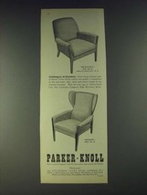 1958 Parker-Knoll Rowstock and Merano Chairs Ad - Catalogue of Comfort - $14.99
