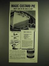 1948 Borden's Eagle Brand Sweetened Condensed Milk Ad - Magic Custard Pie  - $14.99
