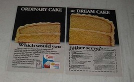 1983 Dream Whip Whipped Topping and Jell-O Pudding Ad - Dream Cake recipe - $14.99
