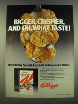 1983 Kellogg's Special K Cereal Ad - Bigger, Crispier, and oh, what taste! - $14.99
