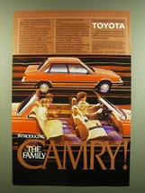 1983 Toyota Camry Ad - Introducing the Family Camry - $14.99