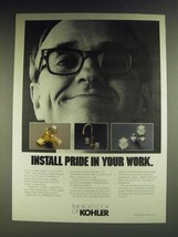 1984 Kohler Faucets Ad - Centura, Flair II, Trend - Install pride in your work - $14.99